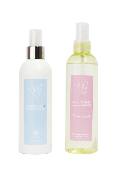 SANITISEDAF+ Duo - Antibacterial Tool & Surface Spray and Antibacterial ManiPedi Spray